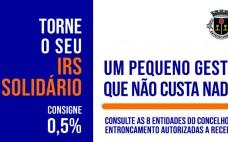 Entroncamento tem 8 entidades autorizadas a receber a consignação do IRS 0,5% do seu IRS pode apoiar causas sociais, ambientais e culturais
