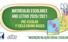 Renovação de matrículas - Inscrição na ASE | Ano letivo 2020/2021