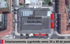 Supressão de Estacionamento | 23.01 a 30.01 | junto ao Mercado Municipal