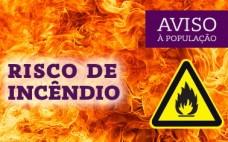 4 a 8 de setembro | Alerta Vermelho | Risco Incêndio