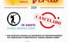 Cancelamento | 30 agosto | Noites de Verão