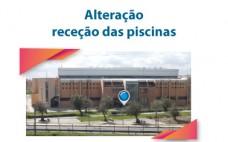 Alteração | Localização/horário serviços efetuados na receção das Piscinas Municipais