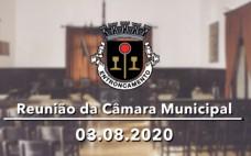 Reunião de Câmara de 03.08.2020