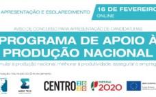 Sessão online de apresentação e esclarecimentos - Programa de Apoio à Produção Nacional