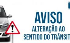 A partir 19 janeiro | Alteração ao sentido de trânsito na Rua Cor. Raúl Oliveira Verdades Miranda