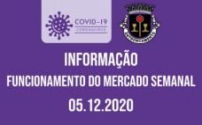 5.12.2020 | Funcionamento do Mercado Semanal