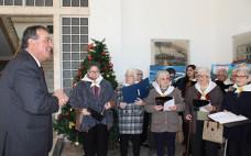 Idosos do concelho cantaram Janeiras na Câmara Municipal do Entroncamento