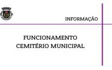A partir de 3 novembro | Horário Funcionamento do Cemitério Municipal