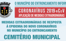 Alteração Orientação nº 8 - Medidas extraordinárias de resposta à epidemia do novo coronavírus - Funcionamento Cemitério Municipal